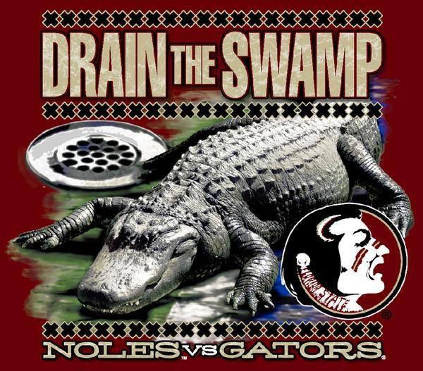 Drain The Swamp Fsu Noles Vs Gators Fsu Florida