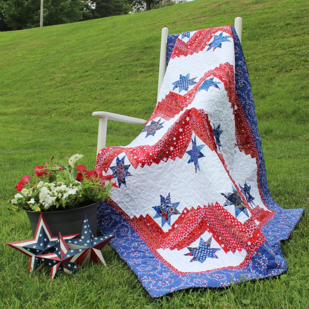 Stars And Stripes Quilt Pattern Patriotic Quilt Pattern Quilts Of
