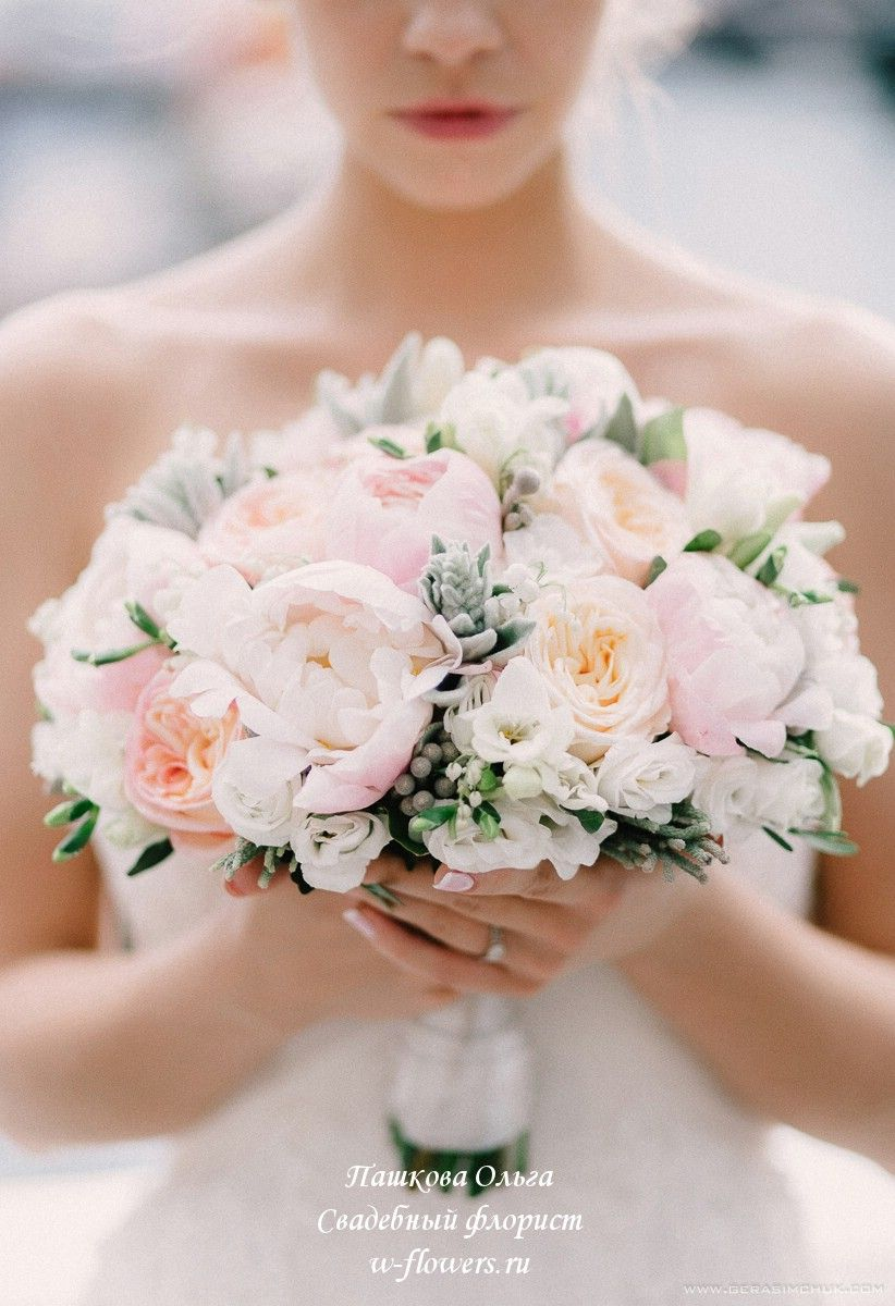 Букет невесты с пионами. Флорист Пашкова Ольга. #букет #невесты #свадебный #пионы #пионовидные #розы #bridalflowerbouquets
