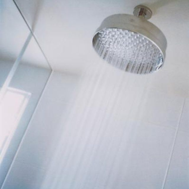 The finish on plastic showers isn't as hard as porcelain.