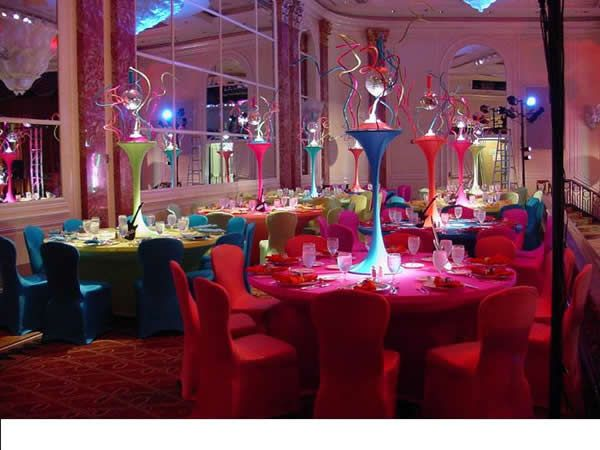 tabledressers table centrepieces for weddings banquets receptions and party decoration - Disco Party Decorations