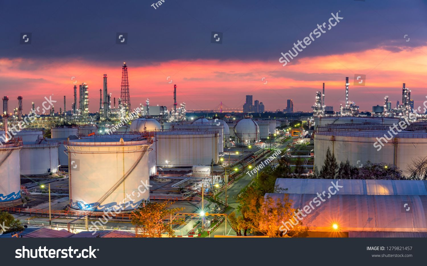 Oil And Gas Industry Refinery Factory Petrochemical