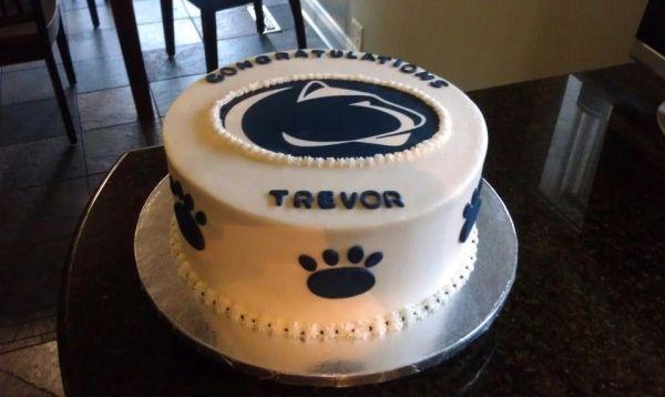 Penn State Cake Idea Penn State Birthday Cakes White Fondant