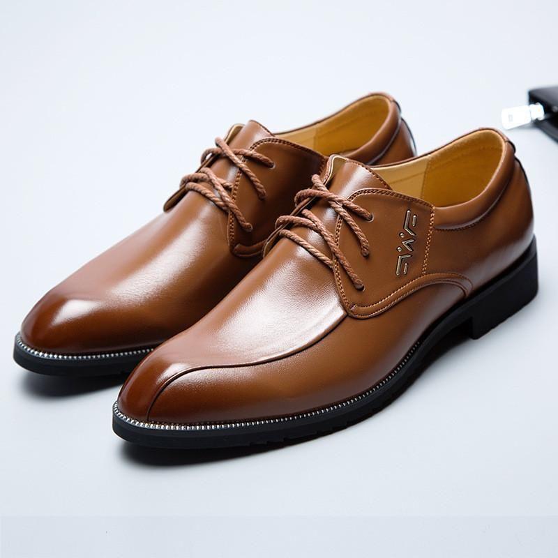 99d9018aab2 Men's Shoes Dress Shoes PU Leather Shoes Brown Black | Classic style ...