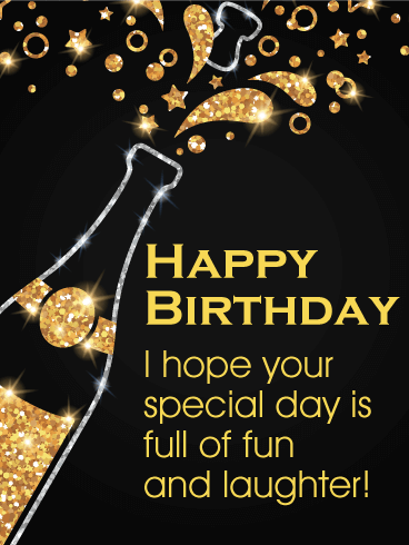 Pop It S Time To Party Happy Birthday Card Happy Birthday It S Time To Celebrate Wi Happy Birthday Man Birthday Wishes For Friend Happy Birthday Greetings