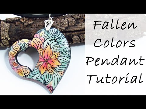 (7) Polymer Clay Project: Fallen Colors Pendant Tutorial - YouTube