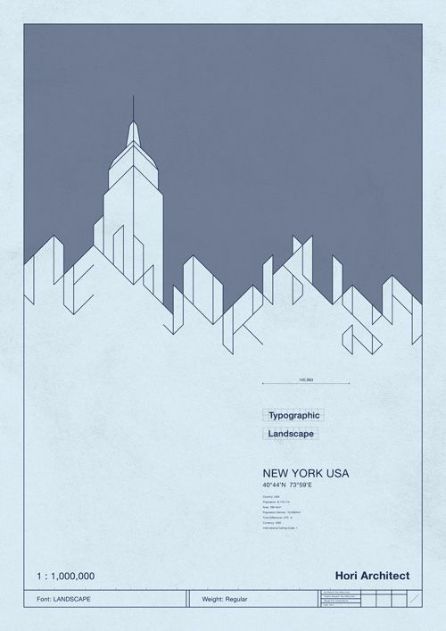 Blueprint of typographic landscape hori architect d1 typography blueprint of typographic landscape hori architect malvernweather Gallery