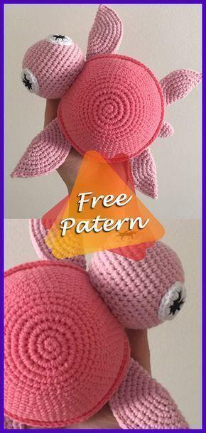 DIY – Instructions for Crocheted Turtle Amigurumi Free Pattern Tutorial #amigurumifreepattern