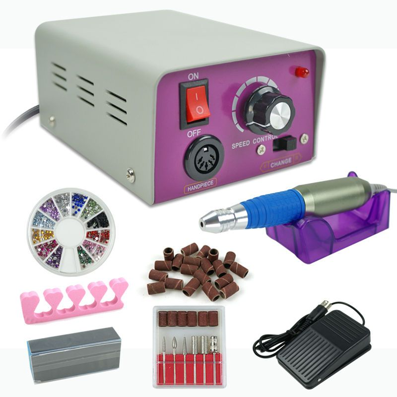 Electric acrylic nail drill file machine kit Complete