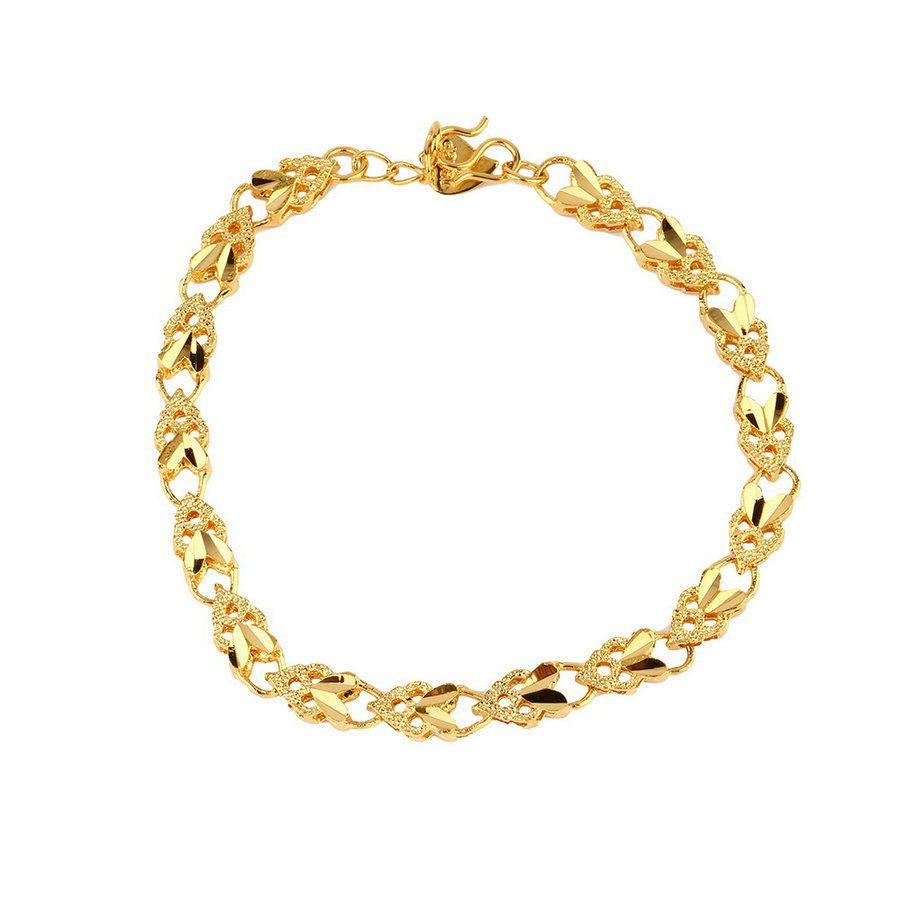 Vacuum plating k gold angel heart bracelet emulational jewelry