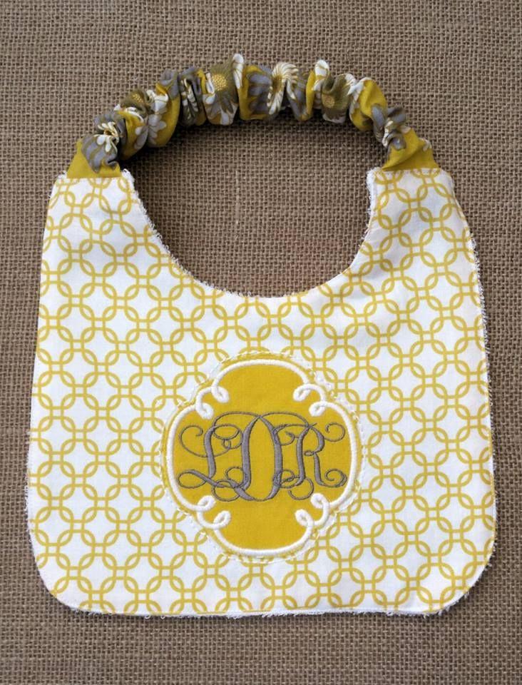 Elastic Top Baby Bib | Sewing | Pinterest