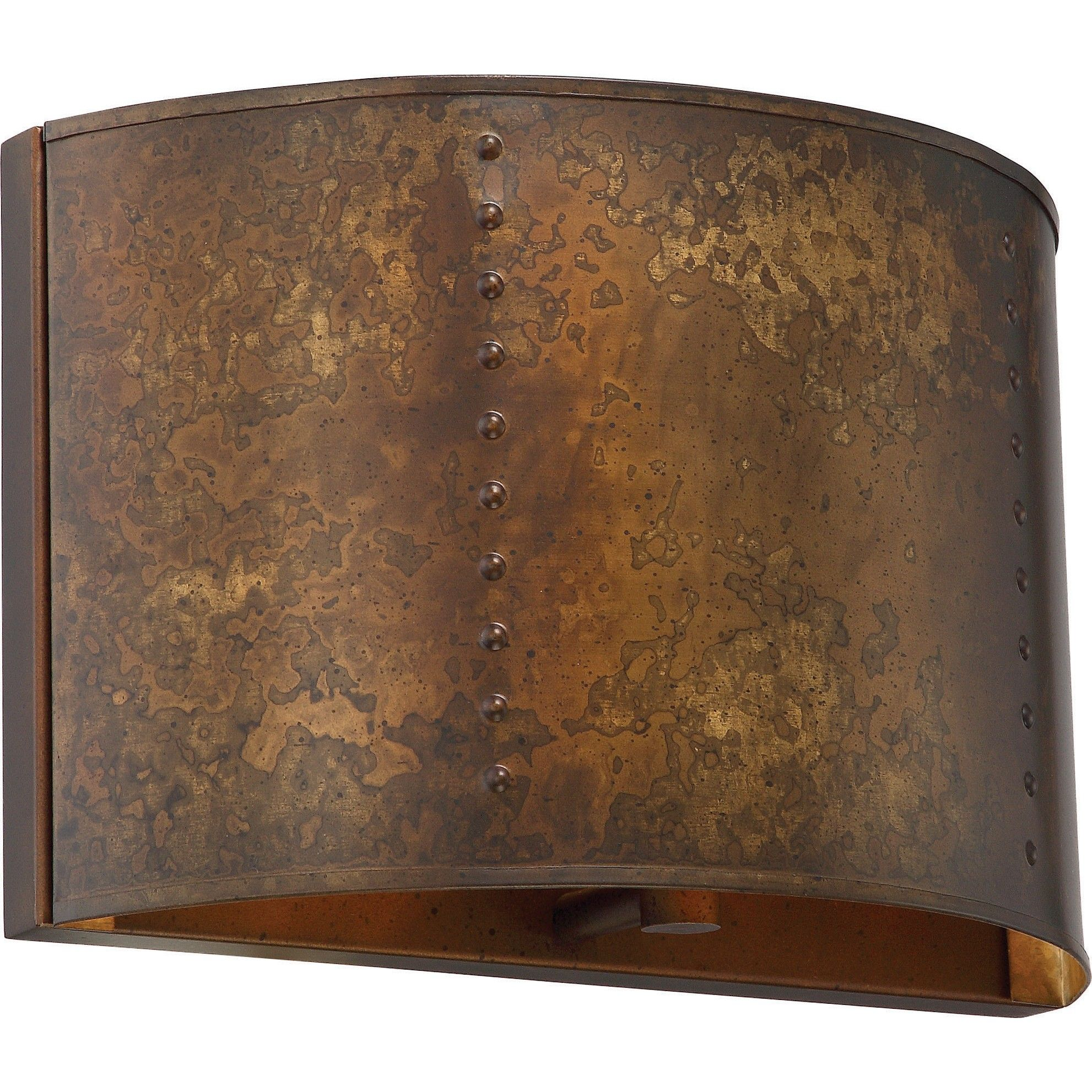 NUVO 60-5891 | 1-Light Wall Sconce in Weathered Brass Finish ...