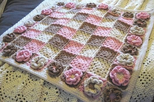 Baby Crochet Blanket 6 Petal Crochet Flower Baby Blanket Patterns
