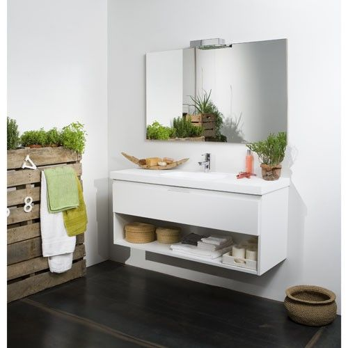 Mueble de ba o line abierto blanco muebles de ba o for Mueble bano blanco