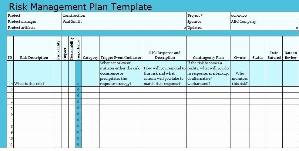 30 Risk Management Plan Template Pdf In 2020 Event Planning