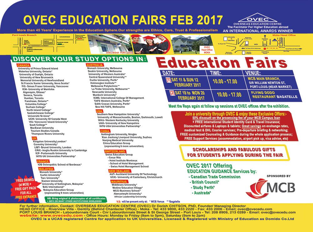 Overseas Education Centre (OVEC) - Don't miss OVEC Education