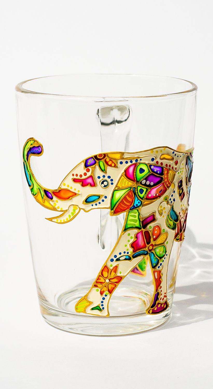 Funny Mug Elephant Coffee Mug, Anniversary Gift Hand