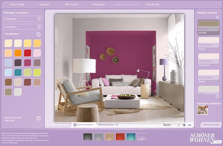 so funktioniert der schÖner wohnen-farbdesigner | so, in and dem - Farben Wohnzimmer Wand
