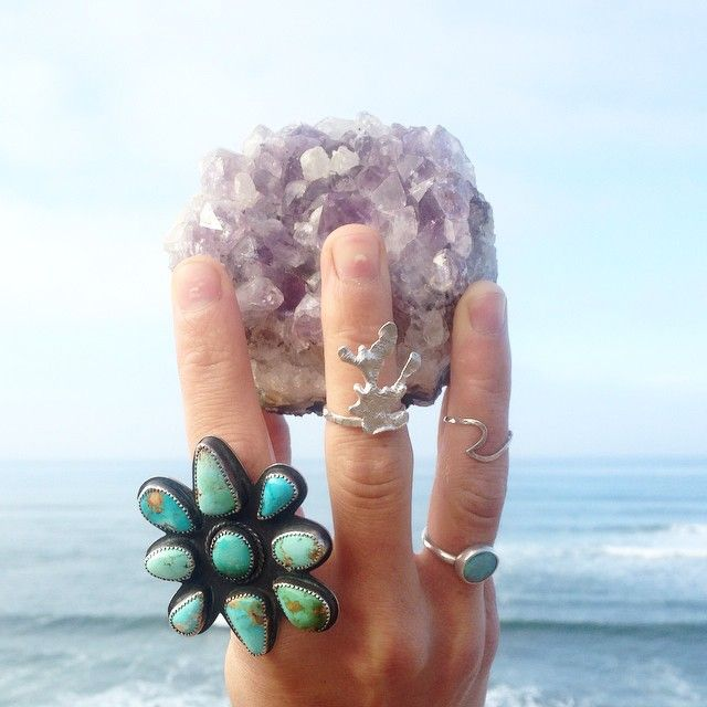 yummy // amethyst + turquoise + opal + molten coral
