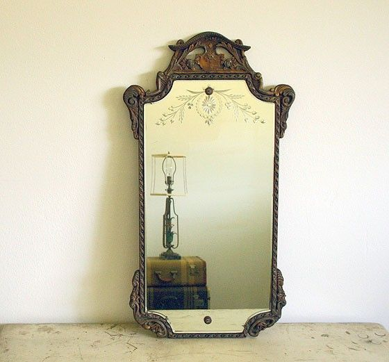 lovely etched vintage mirror from etsy