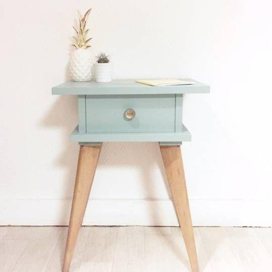 Chevet table de nuit vintage magnifique table de chevet - Table de chevet chene clair ...