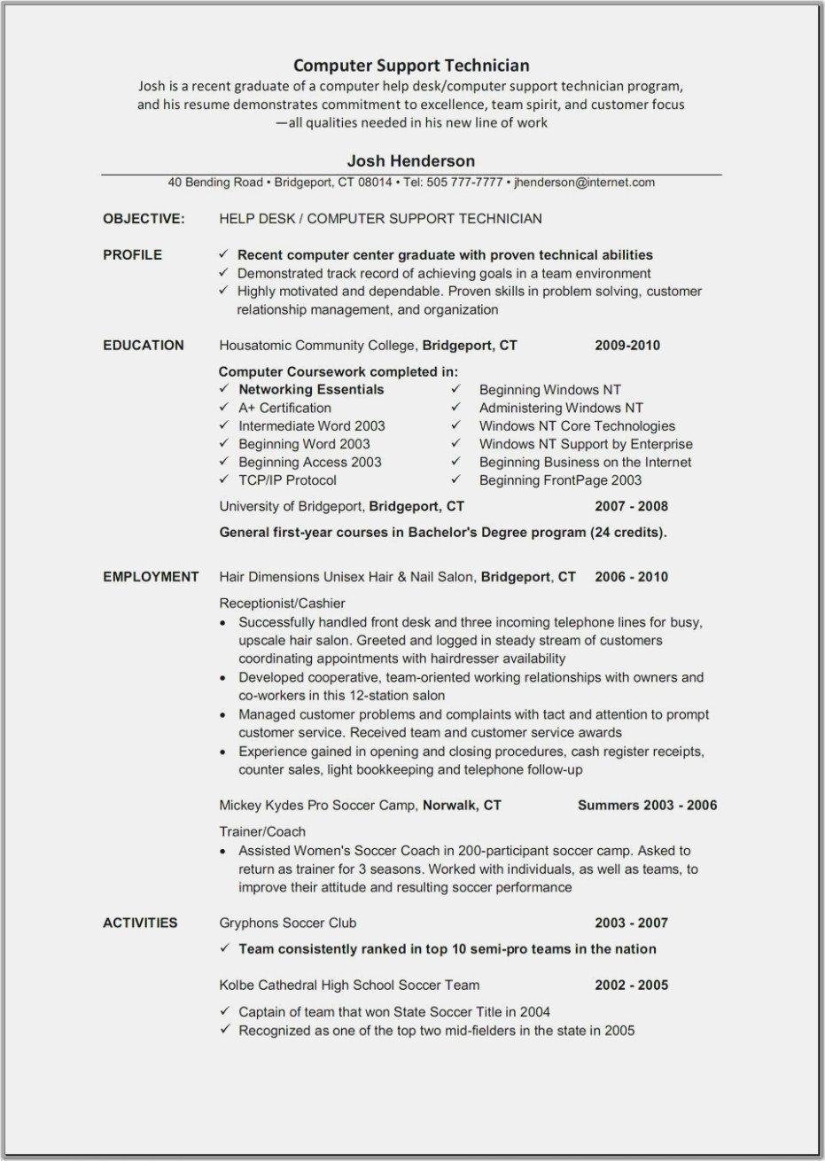 Computer technician resume skills unique 9 sample resume