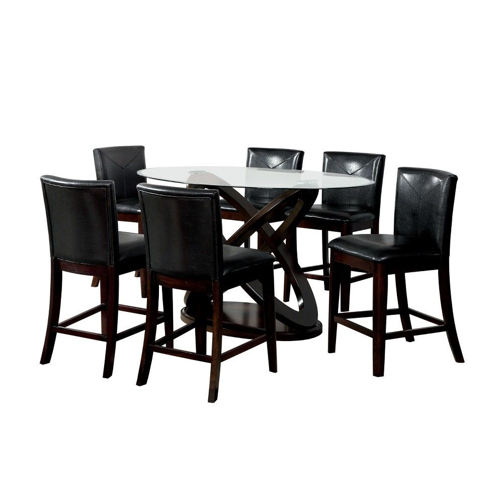 Iohomes Y Back Lining Leatherette Parson Side Chair Wood Dark