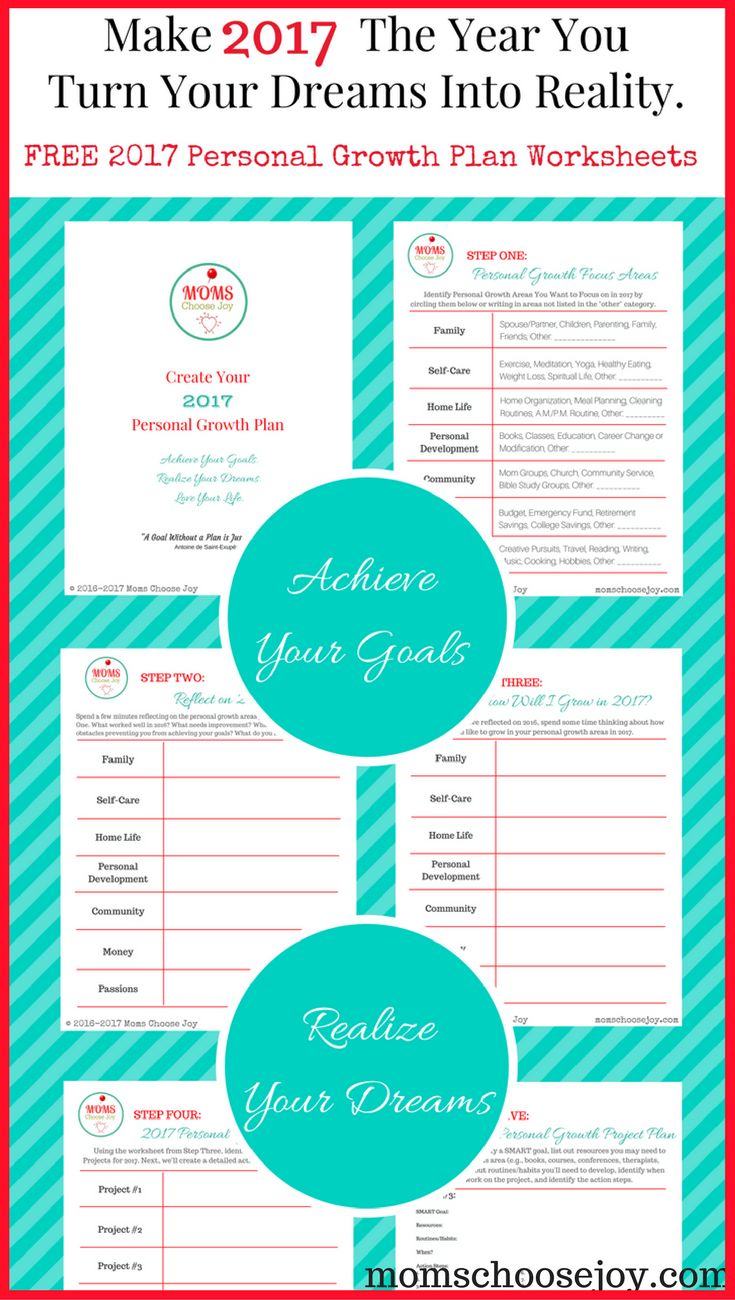 2017 Personal Growth Plan - FREE Goal Setting Worksheet Printables ...