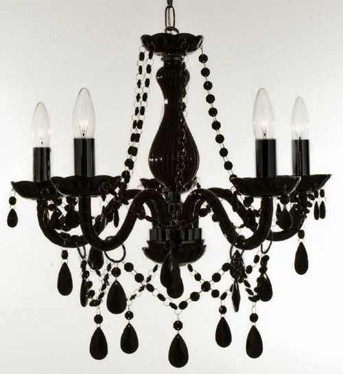 After looking and looking this is the one i have been looking for new authentic all black crystal chandelier lighting for 5 lights ceiling fixture pendant lamp the great result from the black chandelier lamp diy lowes self aloadofball Gallery