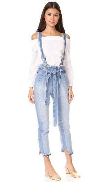 64937ac0648 Little White Dresses. FRAME Le Mix Overalls.  frame  cloth  dress  top   shirt  sweater  skirt  beachwear  activewear