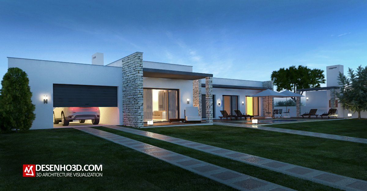 3d rendering, 3D Visualizing Architecture by desenho3d.com Modern House
