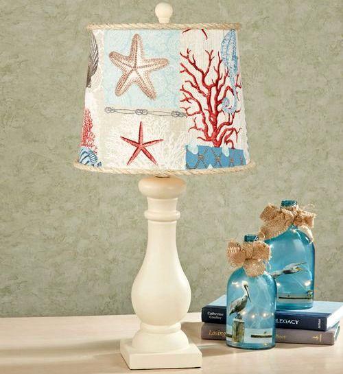 Coastal beach nautical lamp shades playa deco y decoracin coastal lamp shade httpcompletely coastal aloadofball Choice Image