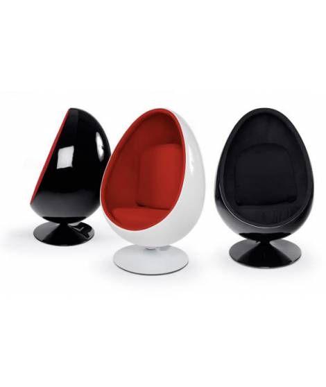 Fauteuil Design Coquille Oeuf Egg Chair Blanc Noir Qualite Superieur Amazon Fr Cuisine Maison Fauteuil Design Astuce Rangement Fauteuil