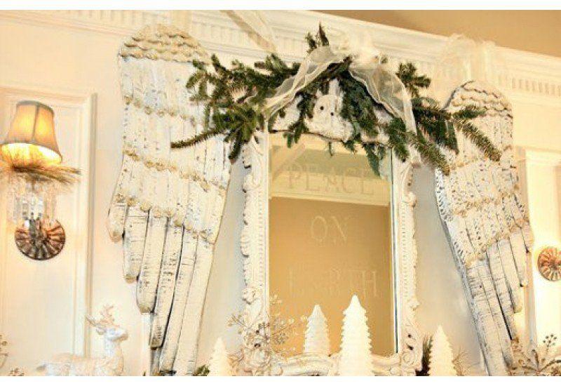 Angel Wings Wall Decor | Wooden Angel Wings | Wooden Angels | Winter ...