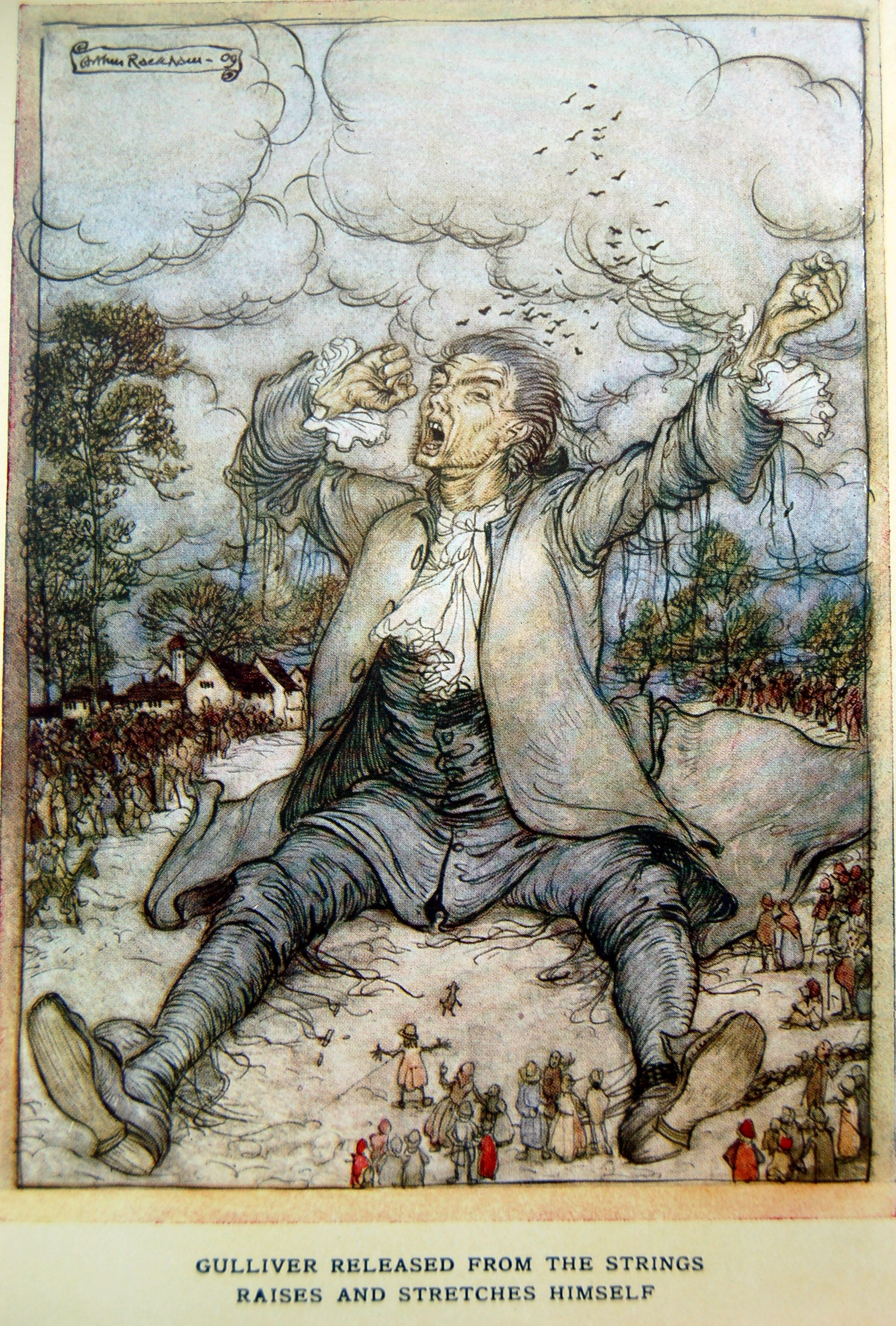 Arthur Rackham Gulliver S Travels By Jonathan Swift 1900 - Gulliver
