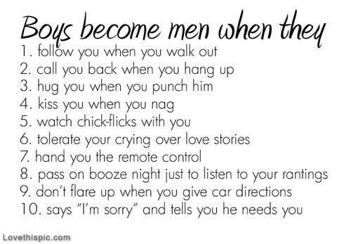 The Difference Between Boys And Men Boyfriend Quotes Boy Quotes
