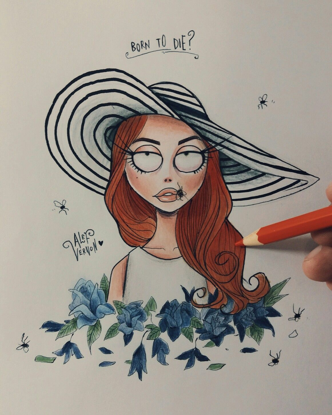 My concept for Lana Del Rey inspired on Tim Burton\u0027s art