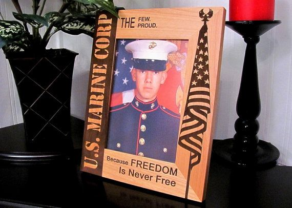 Us Marine Corp Solid Wood Frame 8 X 10 By Lasercraftengraving
