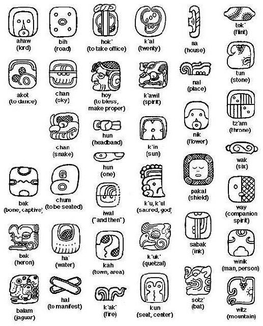 Mayan Animal Symbols Pictures Word Pinterest Symbols Mayan