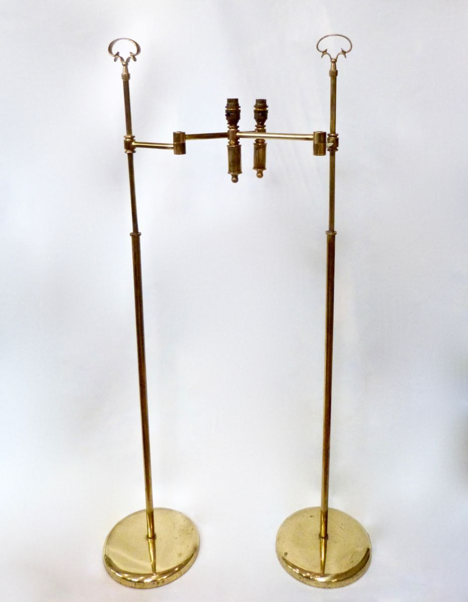 A PAIR OF 20C BRASS FLOOR LAMPS - Stock - Blanchard Collective | Antiques, Marlborough
