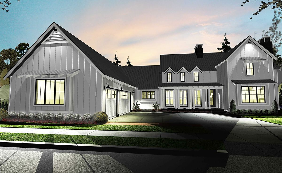 Plan 62544DJ: Modern 4 Bedroom Farmhouse Plan