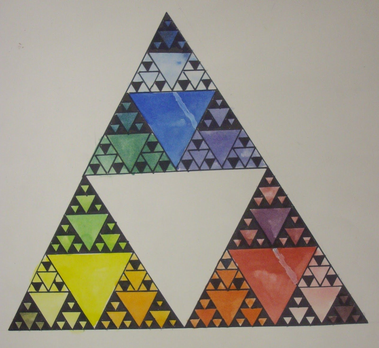 sierpinskis triangle colorwheel art integration – Sierpinski Triangle Worksheet