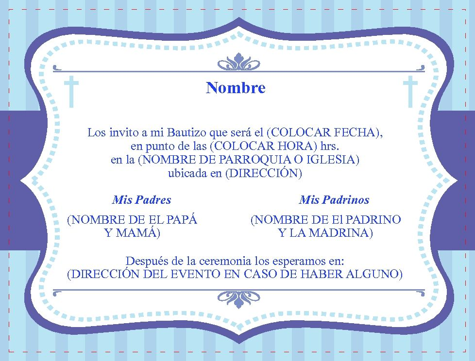 Diseños De Tarjetas De Invitacion A Bautizo En Hd Gratis 2