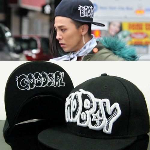 19af711d008 GD-G-dragon-Bigbang-Baseball-Cap-BAD-BOY-Snapback-Hat-GOOD-Girl-KPOP-Hiphop -YG