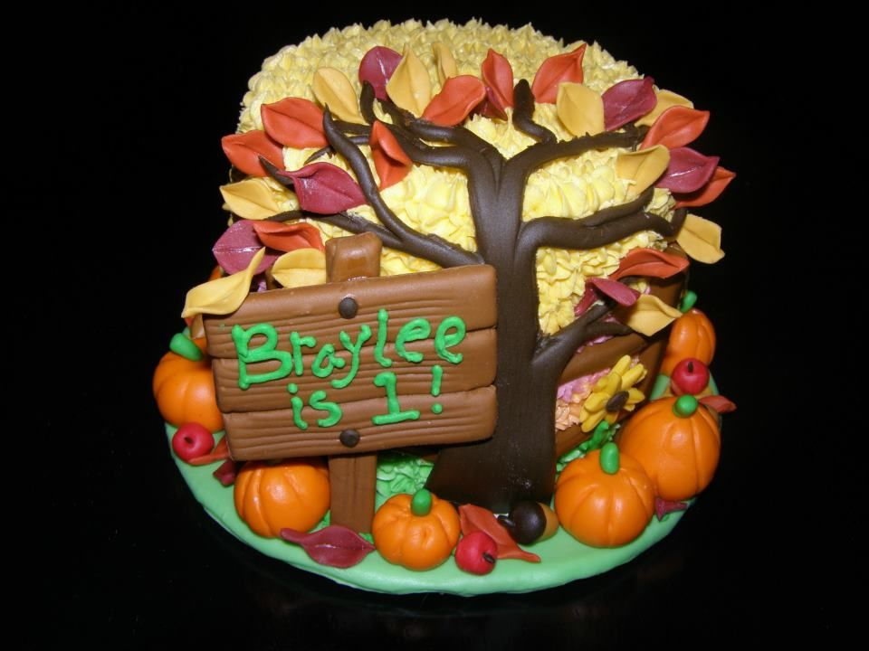 Incredible Fall Themed Smash Cake Fall Birthday Cakes Pumpkin Birthday Funny Birthday Cards Online Fluifree Goldxyz