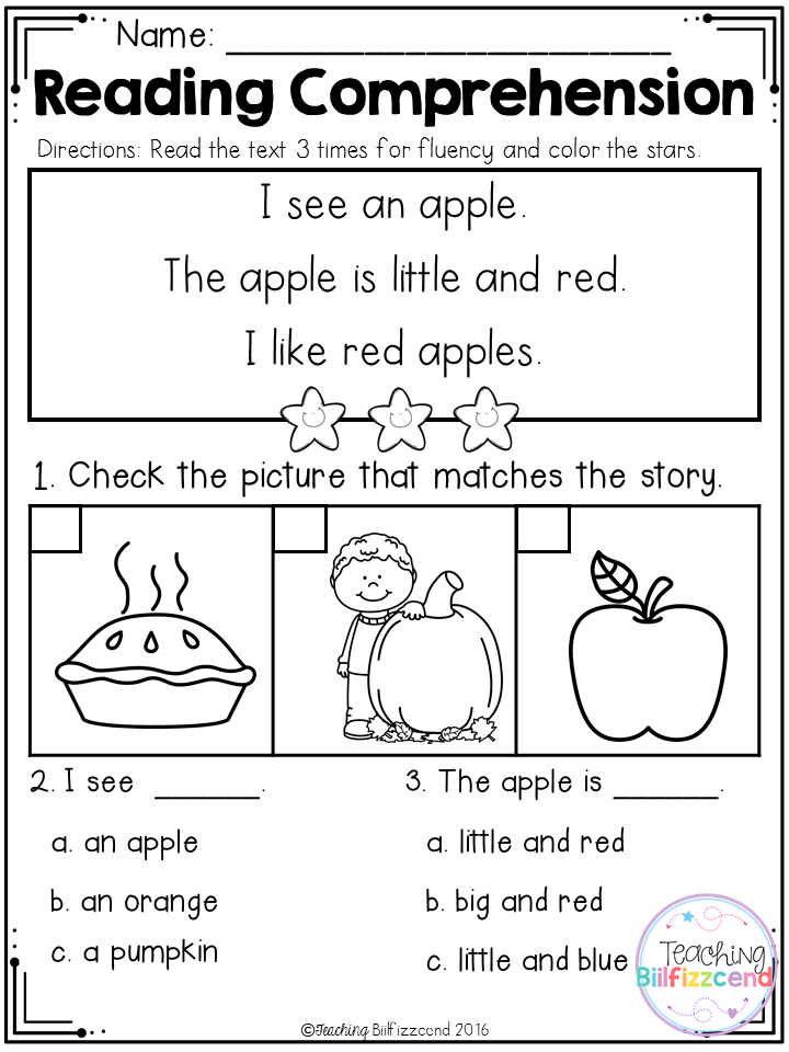 Inside You Will Find 25 Kindergarten Reading Comprehension Passages These Readin Reading Comprehension Kindergarten Kindergarten Reading Reading Comprehension