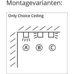 Top Light Only Choice Ceiling Deckenleuchte chrom Wunsch-Montage bitte im Bemerkungsfeld angeben 35c