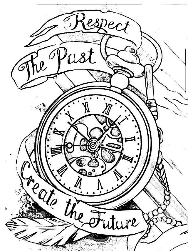Pin von Sabina Greiser auf Tattoo Uhren Kompass Sanduhren ...