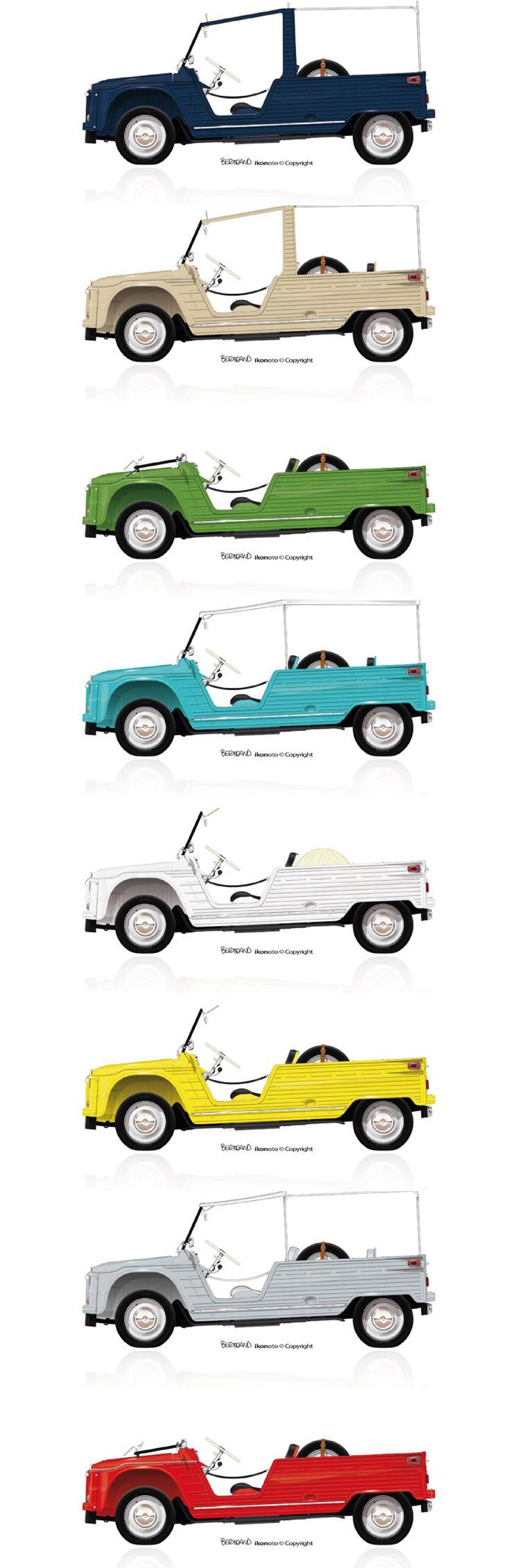 Citroen mehari blanc turquoise bleu vert jaune rouge beige pre serie deauville 1968 ikonoto - Garage mercedes deauville ...