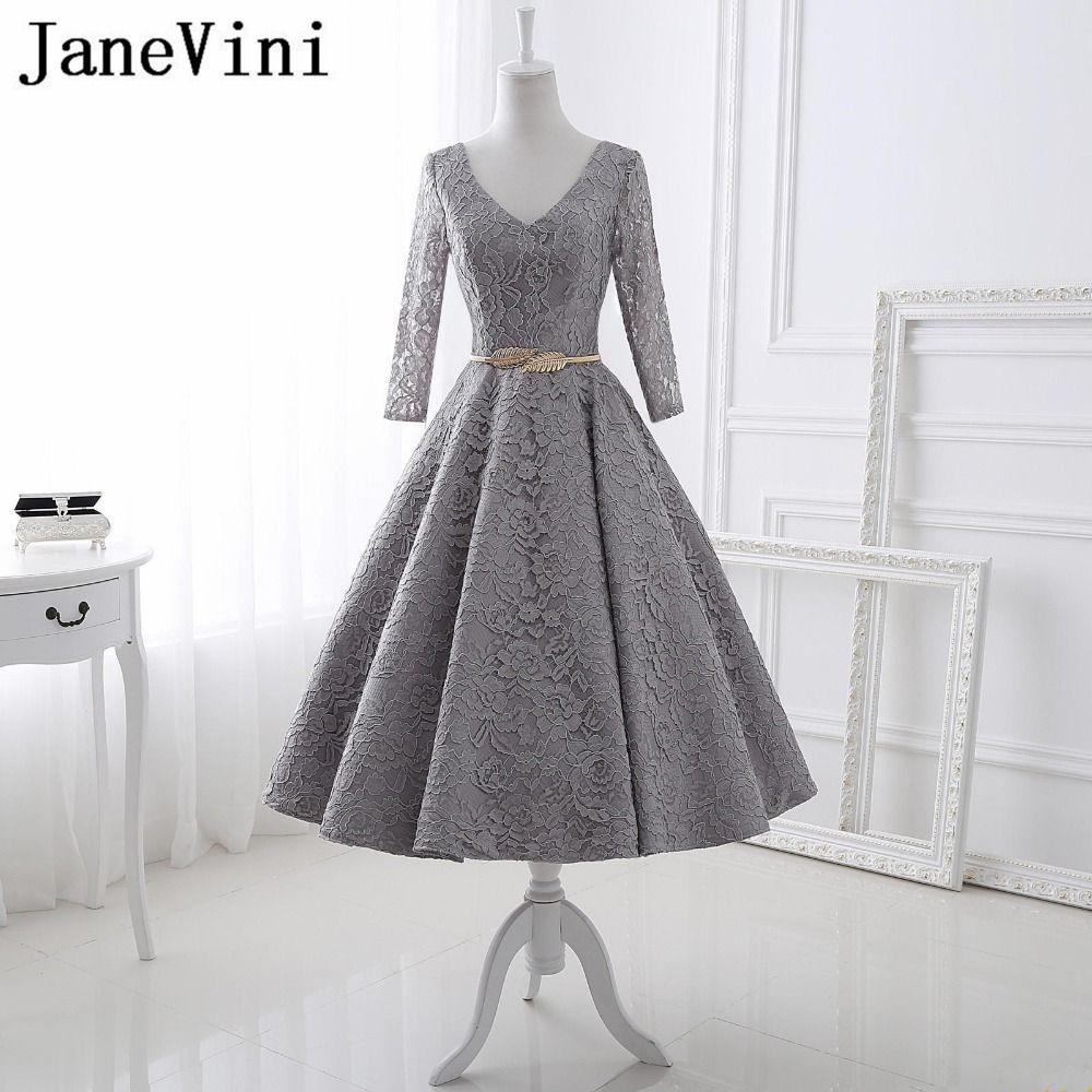 Janevini vestidos vintage evening dresses with sashes v neck long